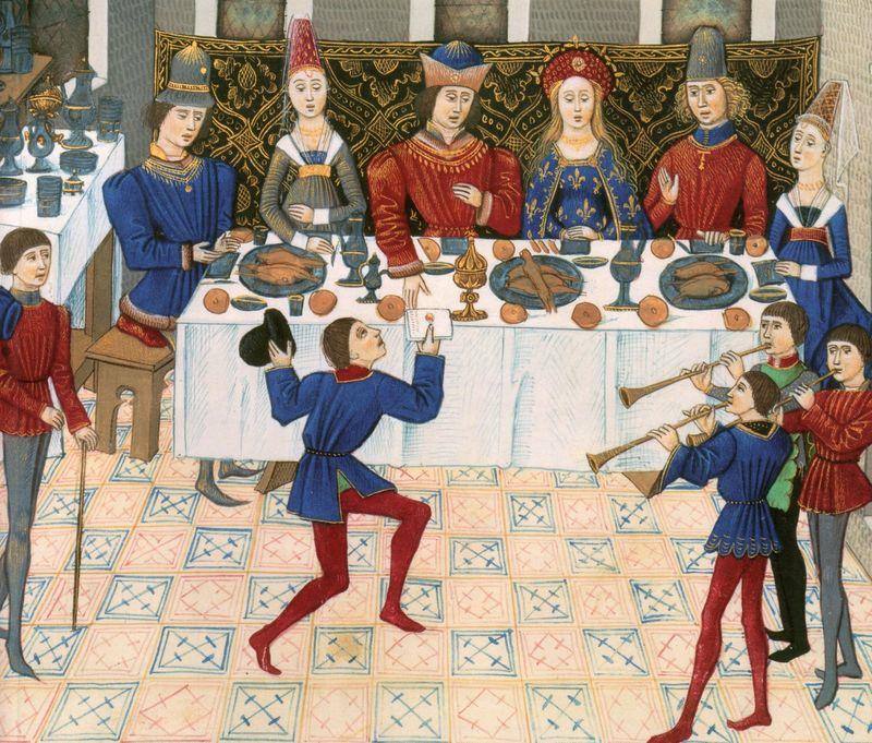 中世の宴席