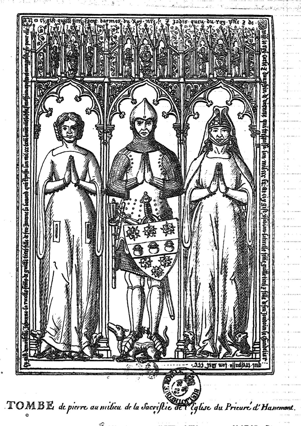 ギヨーム・ティレルの墓碑の図